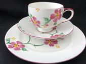 Rare Paragon Art Deco trio hand painted